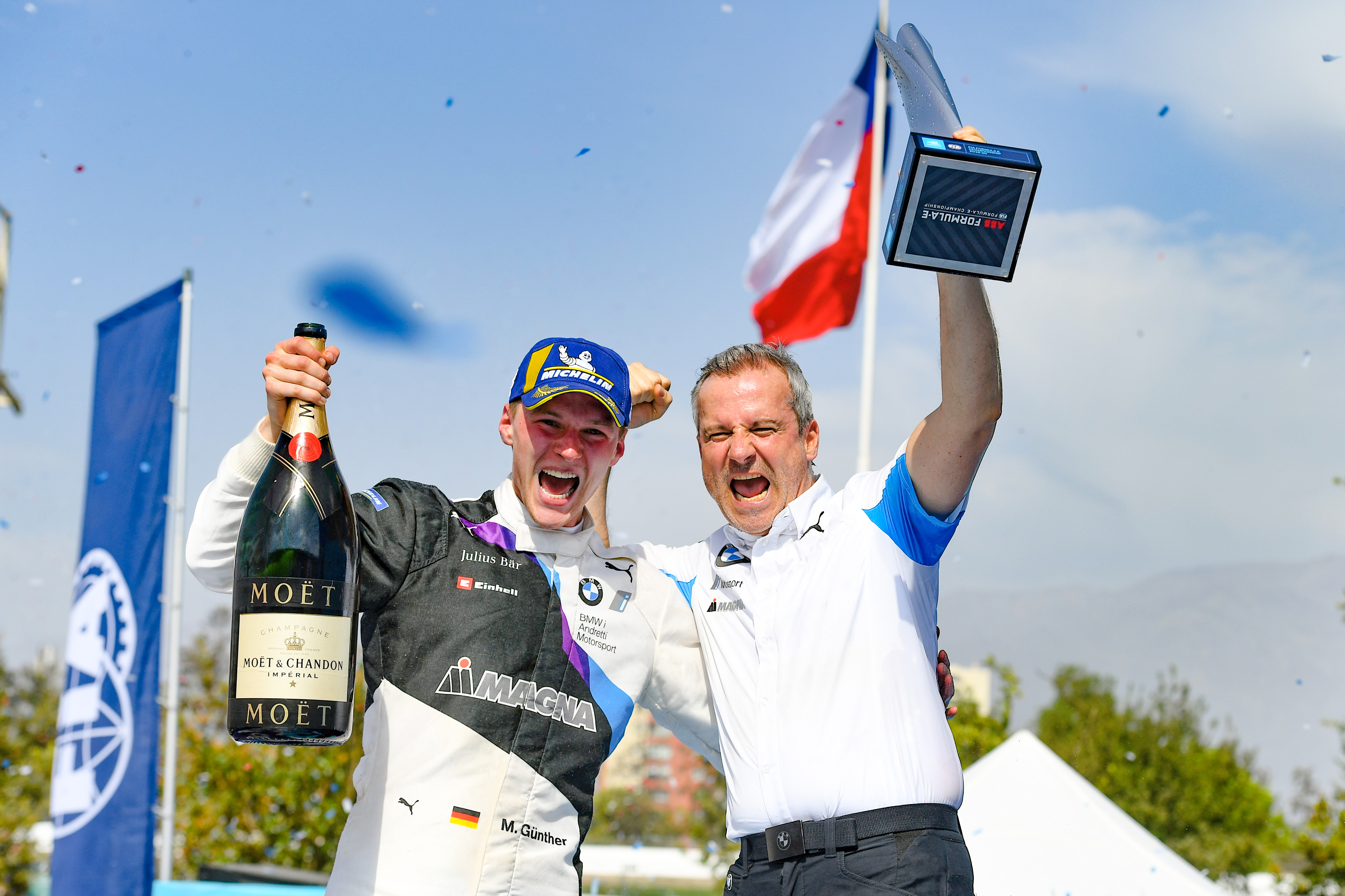Guenther wins in action packed Santiago E-Prix
