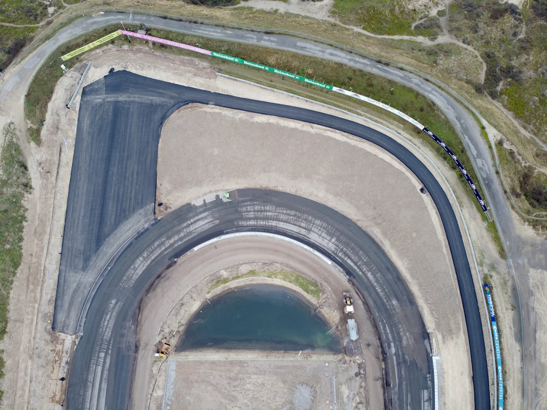 Formula 1 Asphalt Work Continues At Circuit Zandvoort