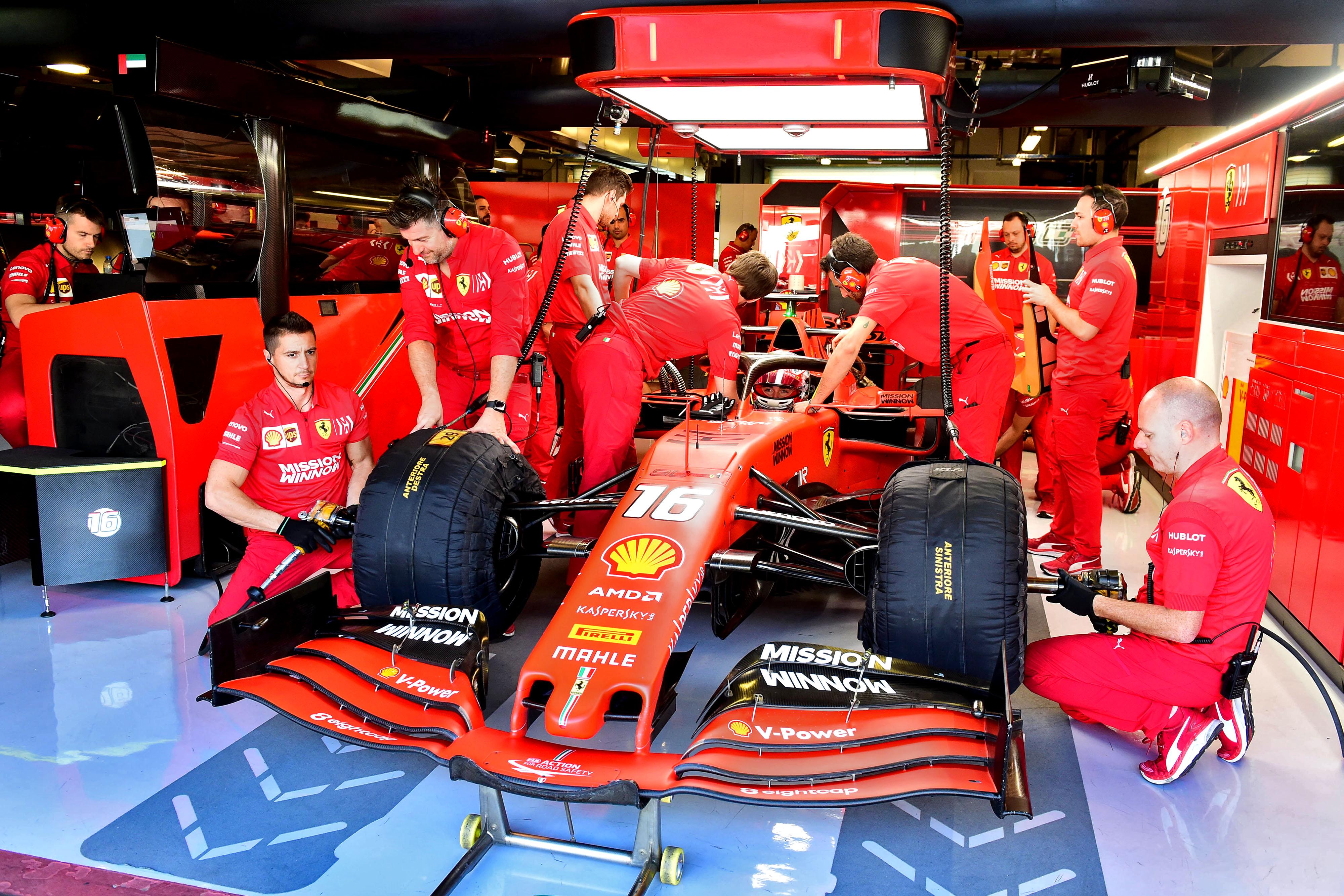 F1 Formula 1 Ferrari Pirelli testing Charles Leclerc tyre test 18 inch