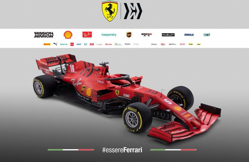 F1 Formula 1 Ferrari car launch 2020