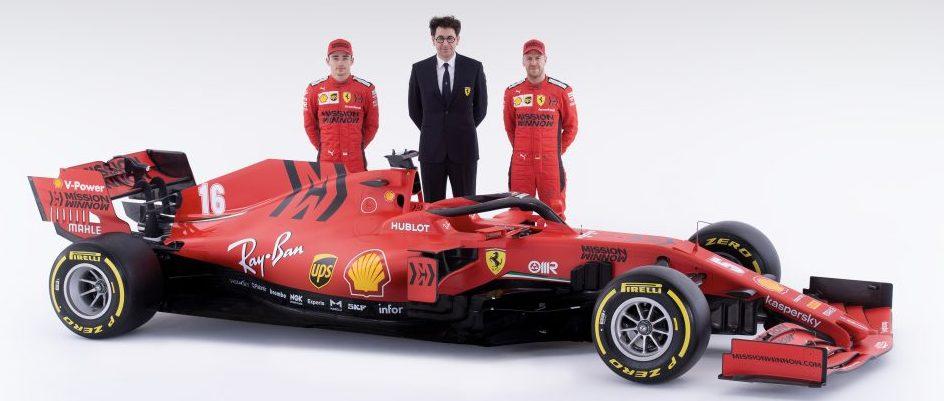 2020 F1 Formula 1 Ferrari Binotto Vettel Leclerc