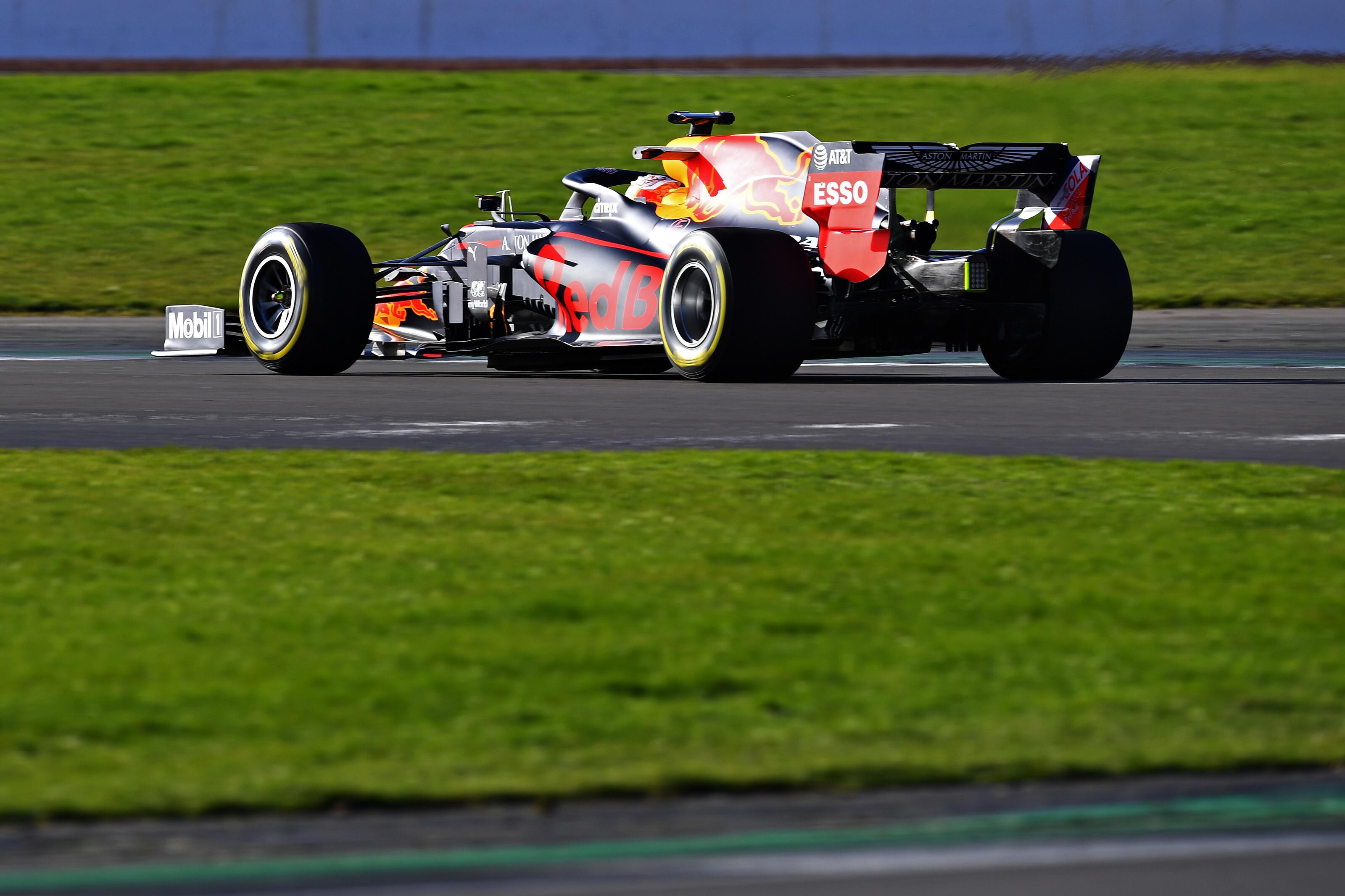 F1 Formula 1 Red Bull Racing Silverstone shakedown Verstappen shakedown 2020