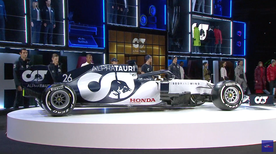 F1 Formula 1 Alpha Tauri Daniil Kvyat Pierre Gasly 2020 car launch