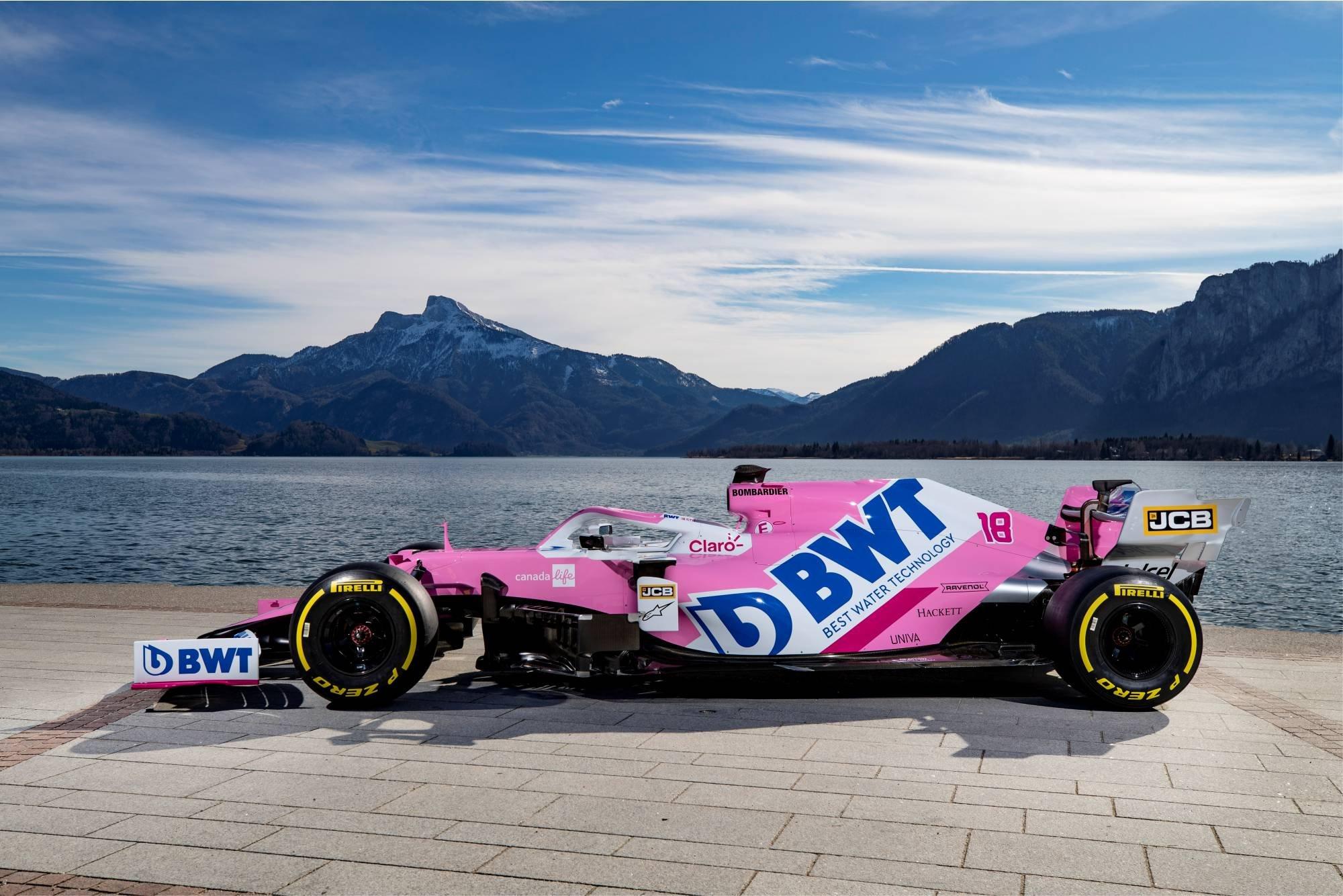 F1 Formula 1 Racing Point RP20 BWT title sponsors