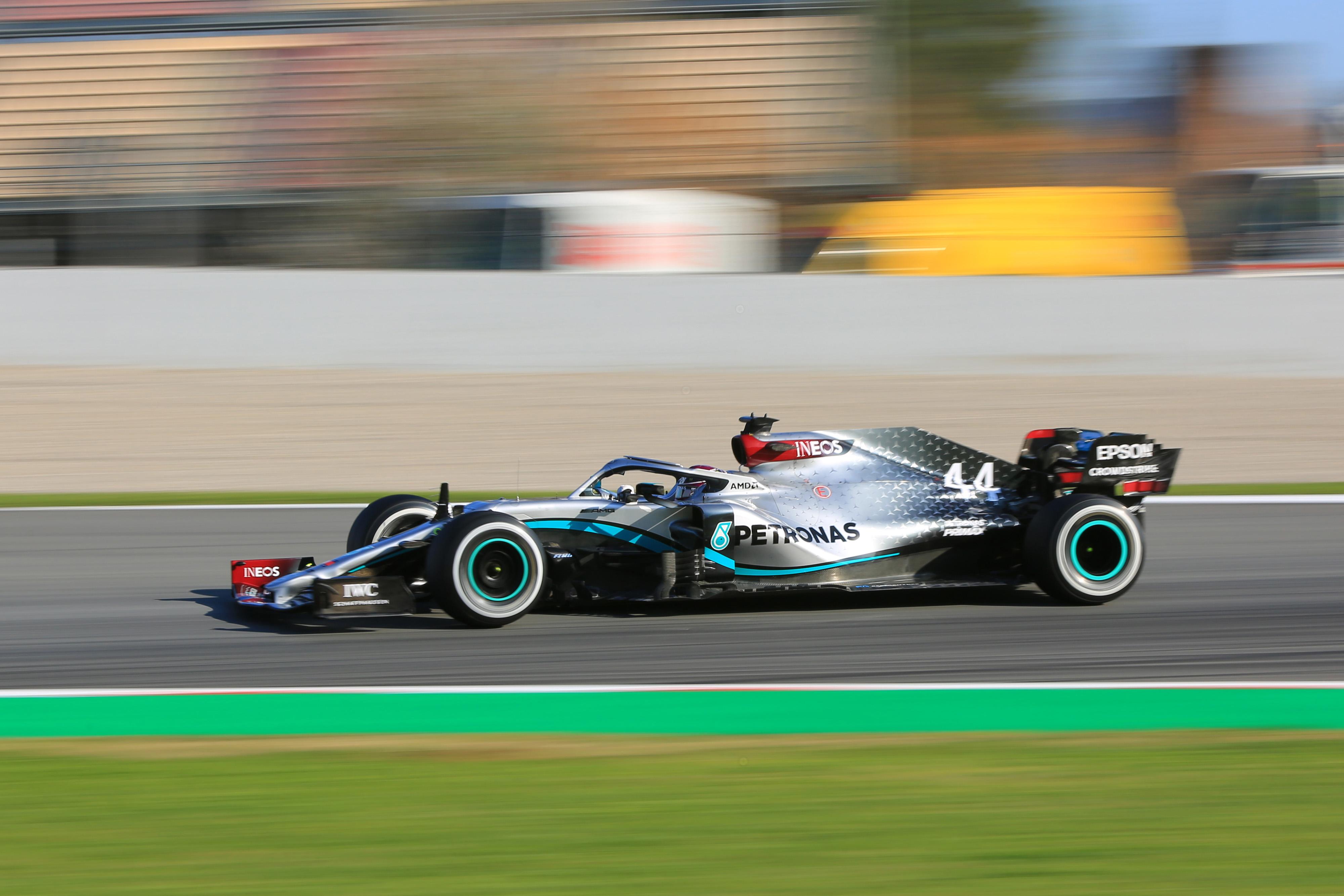 F1 Formula 1 Testing Lewis Hamilton Mercedes afternoon