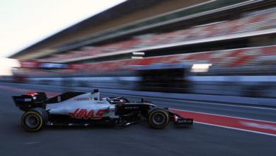 Photo of Grosjean spin damage ends planned 180 lap programme