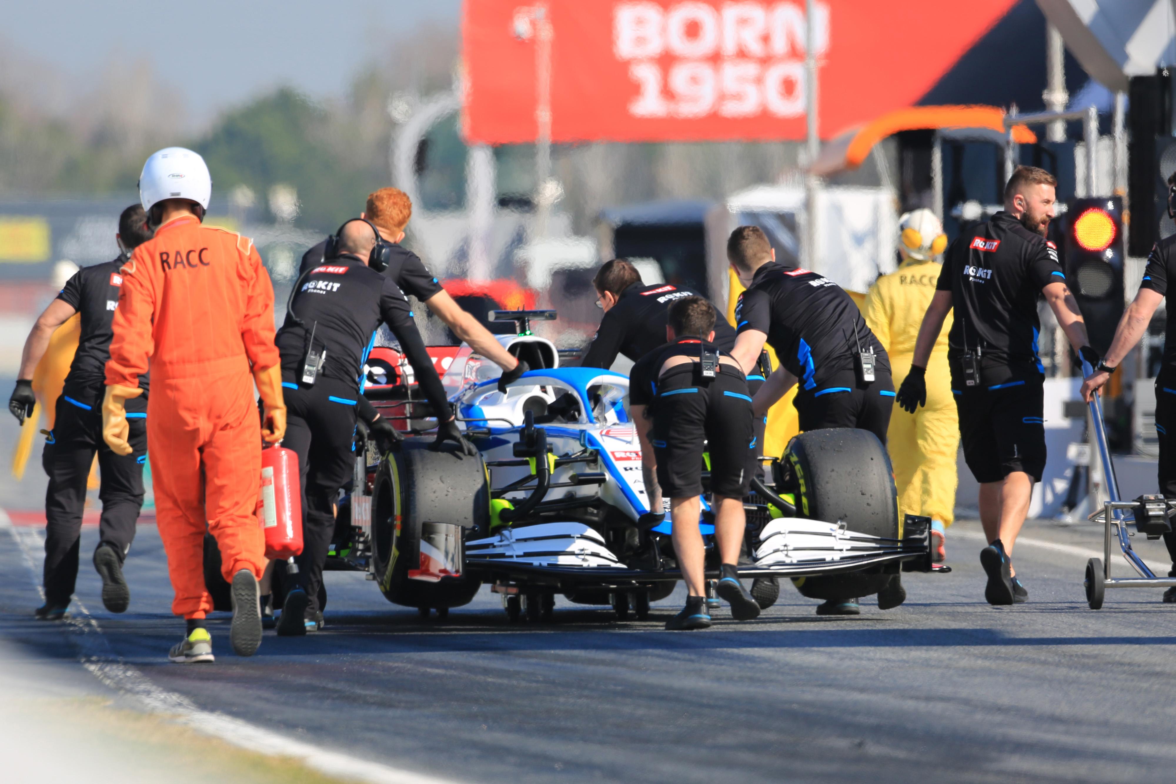 F1 Formula 1 testing Williams Nicholas Latifi