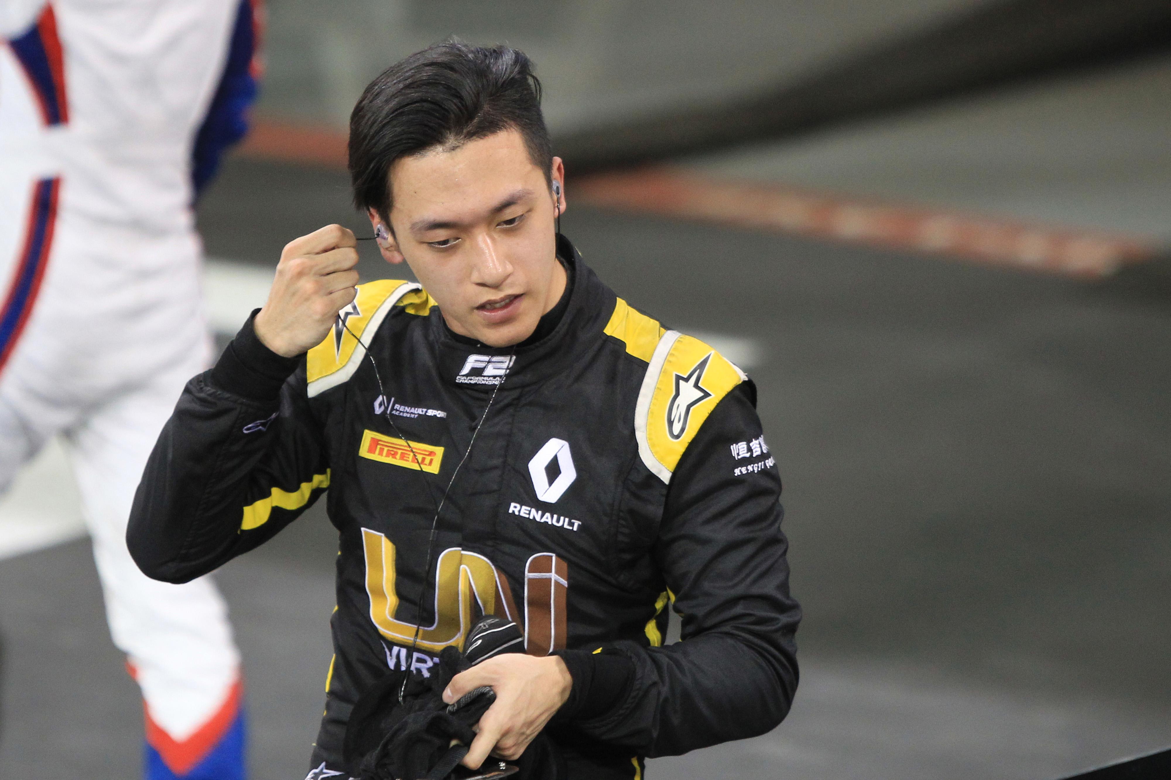 F1 Formula 1 Renault Guanyu Zhou Formula 2