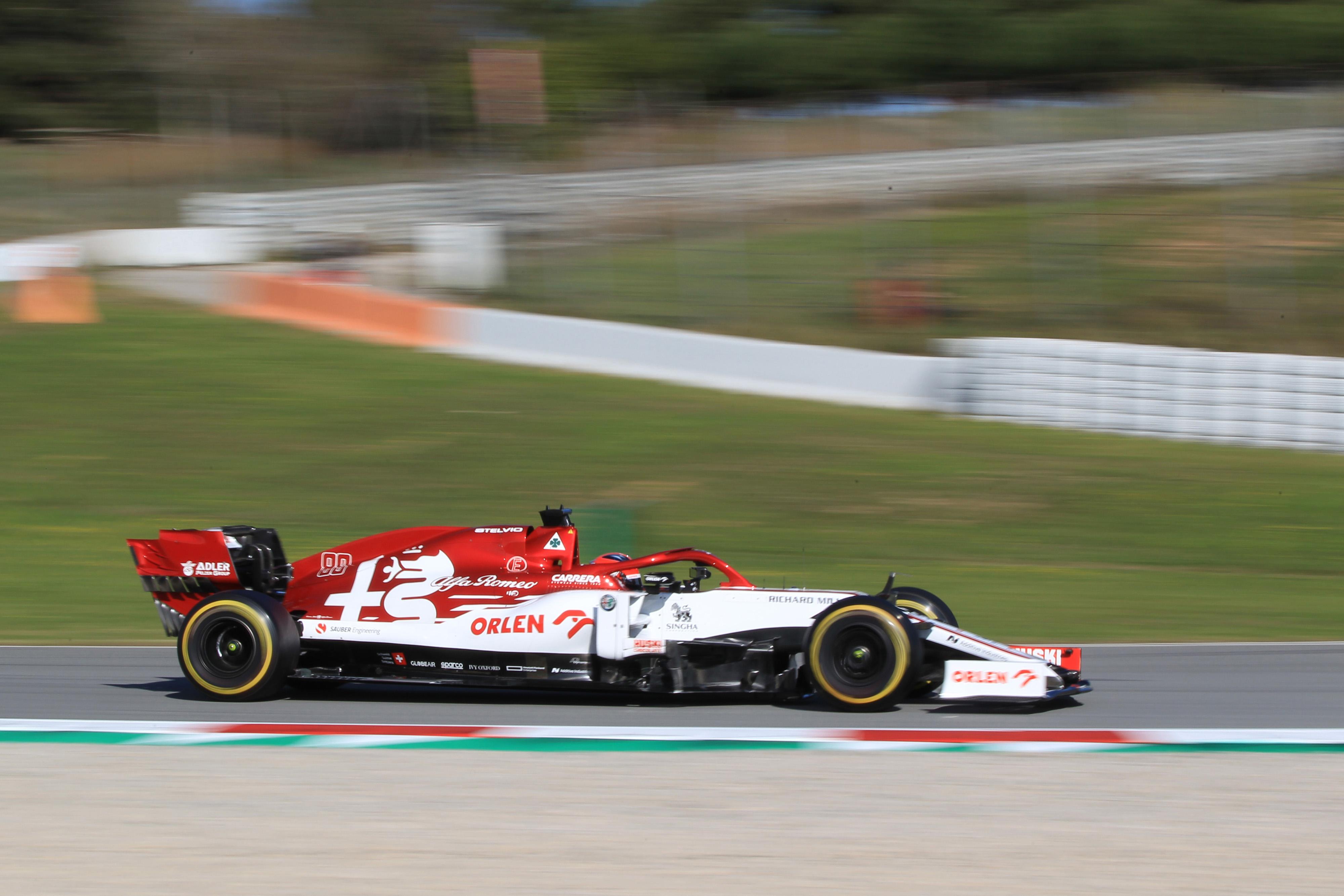 F1 Formula 1 Alfa Romeo Robert Kubica testing