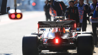 Photo of Albon's morning compromised by suspension issue