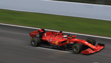 Photo of Vettel fastest despite spin after rain affected morning