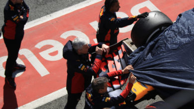 Photo of Verstappen didn't see damp patch that triggered spin