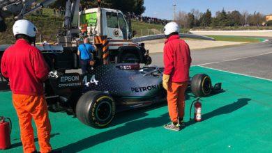 Photo of Oil pressure issue halts Mercedes' Thursday programme