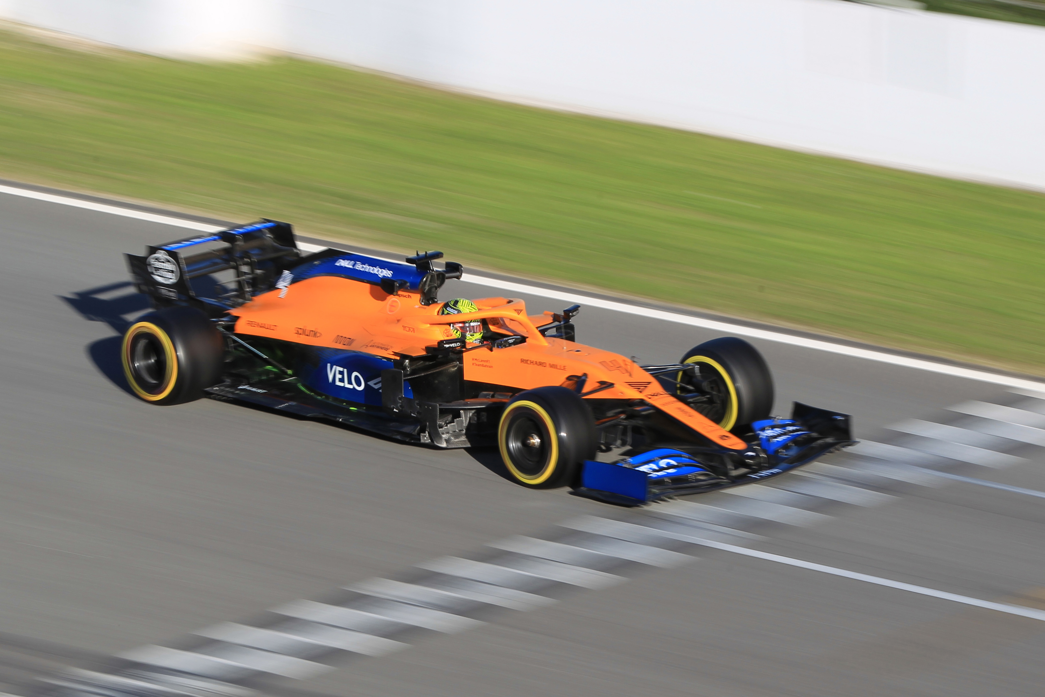 F1 Formula 1 Lando Norris McLaren MCL35 testing car nicer to drive