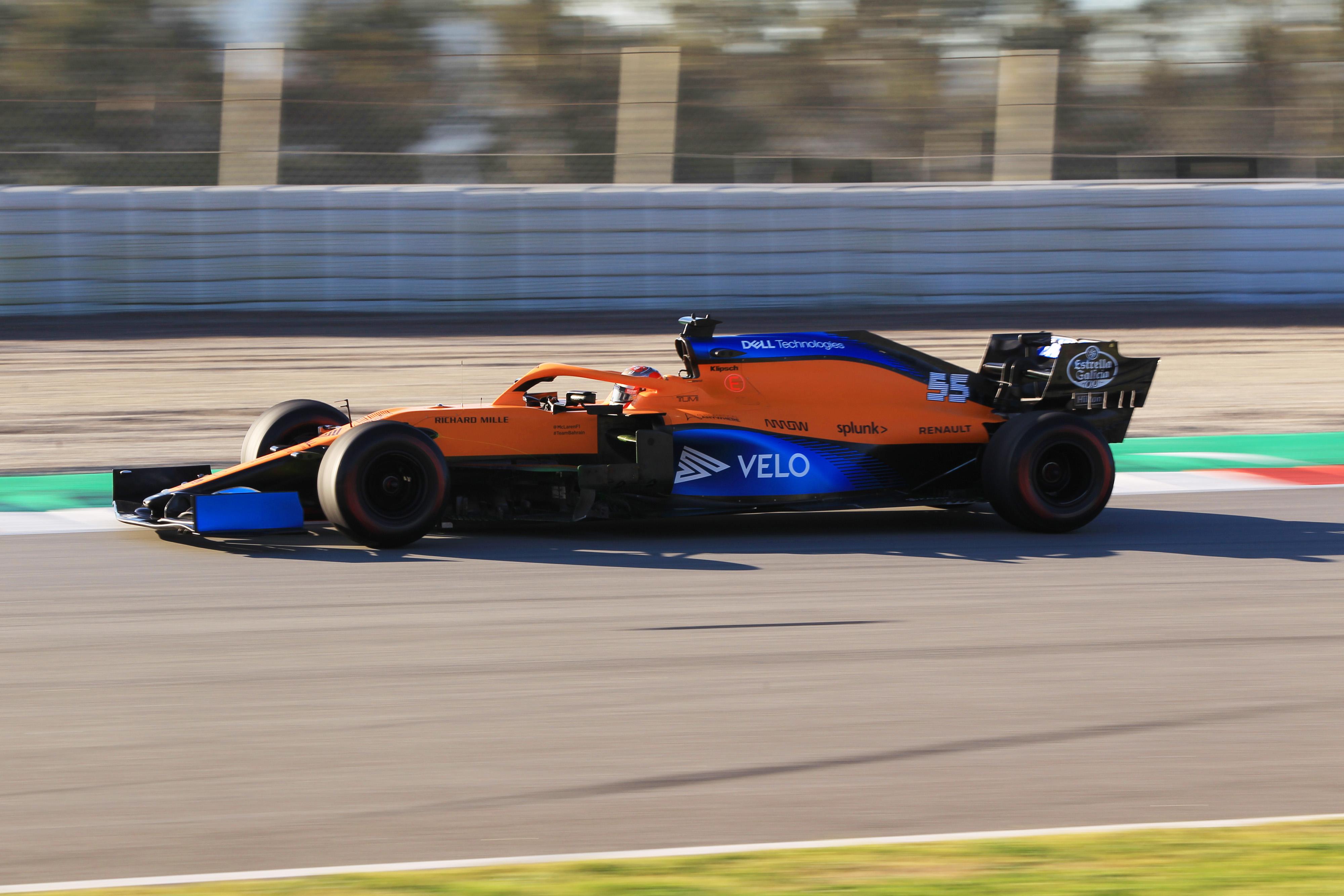 F1 Formula 1 Carlos Sainz McLaren Testing