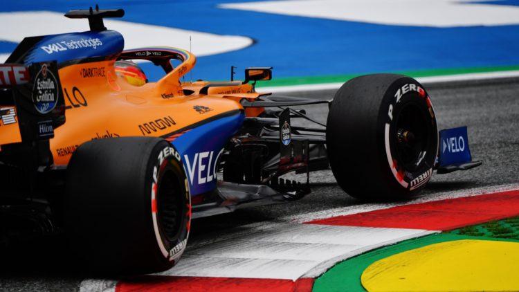 F1 Formula 1 McLaren FP1 first practice results Austrian Grand Prix