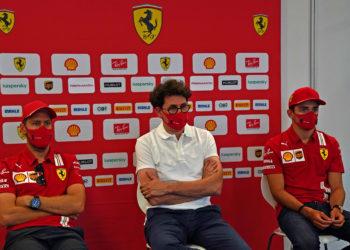 F1 Formula 1 Mattia Binotto Ferrari Charles Leclerc Sebastian Vettel