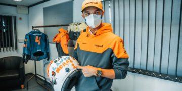 F1 Formula 1 Lando Norris McLaren helmet design Silverstone British Grand Prix