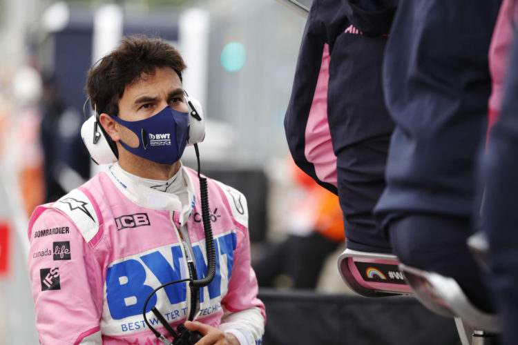 F1 Formula 1 Sergio Perez Racing Point coronavirus