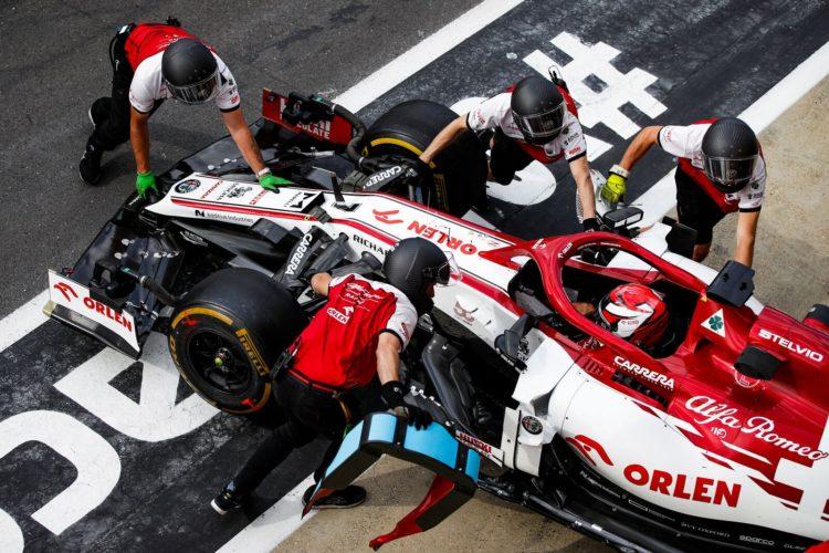 F1 Formula 1 Kimi Raikkonen Alfa Romeo Antonio Giovinazzi British Grand Prix