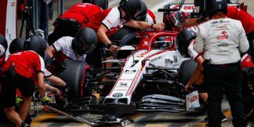F1 Formula 1 Alfa Romeo Kimi Raikkonen Antonio Giovinazzi British Grand Prix