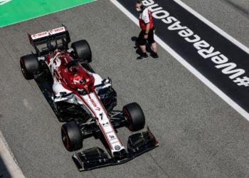 F1 Formula 1 Alfa Romeo Spanish Grand Prix Kimi Raikkonen Antonio Giovinazzi Frederic Vasseur