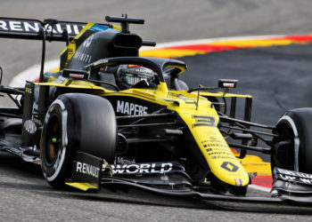 F1 Formula 1 Belgian Grand Prix practice Daniel Ricciardo Esteban Ocon