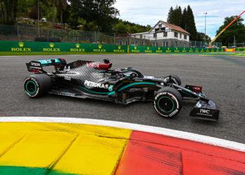 F1 Formula 1 Belgian Grand Prix Lewis Hamilton Mercedes pole position qualifying results