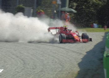 Italian Grand Prix red flagged after Leclerc crash