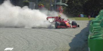 Italian Grand Prix red flagged after Leclerc crash