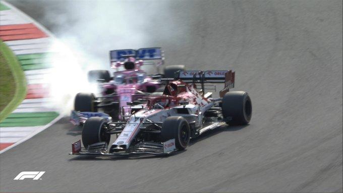 F1 Formula 1 Tuscan grand Prix Raikkonen Perez