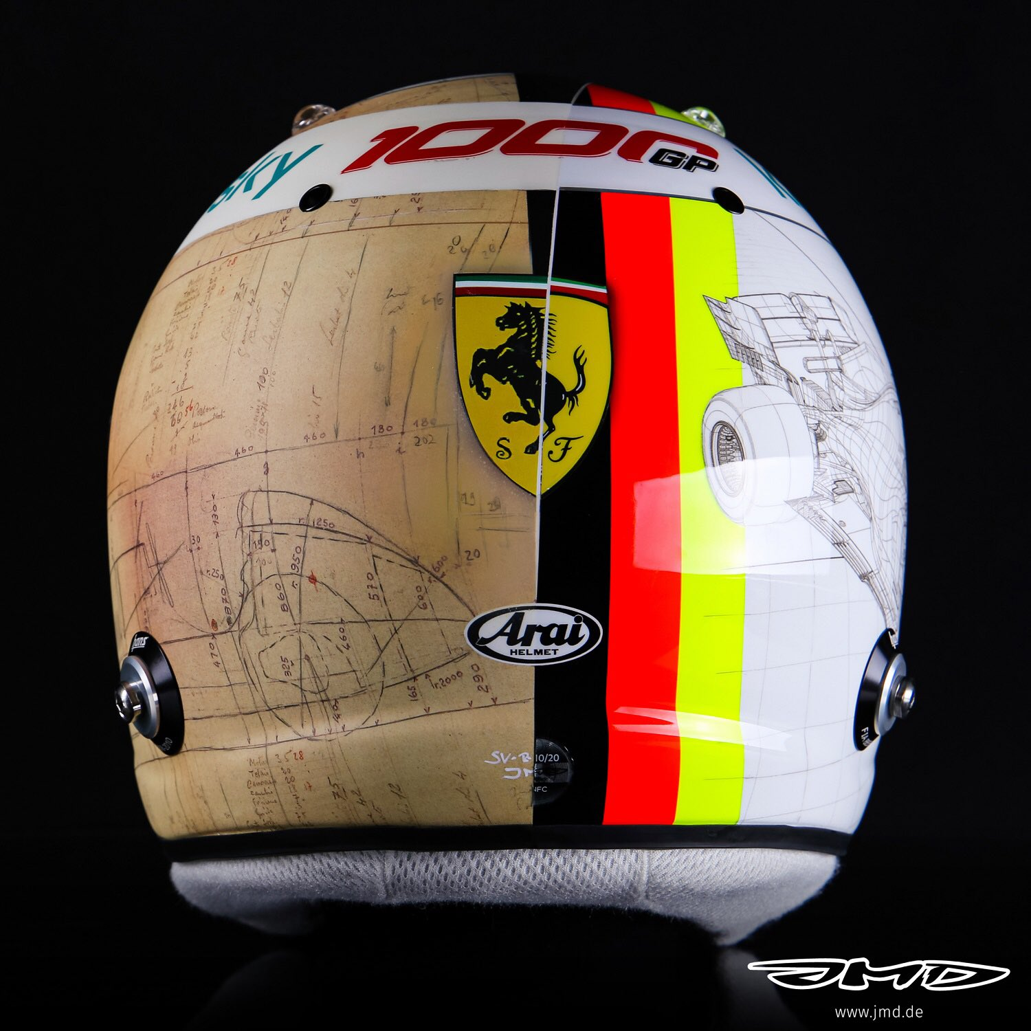 Formula 1 Special Helmet Designs Celebrating Ferrari And Italy For This Weekend S Tuscan Race