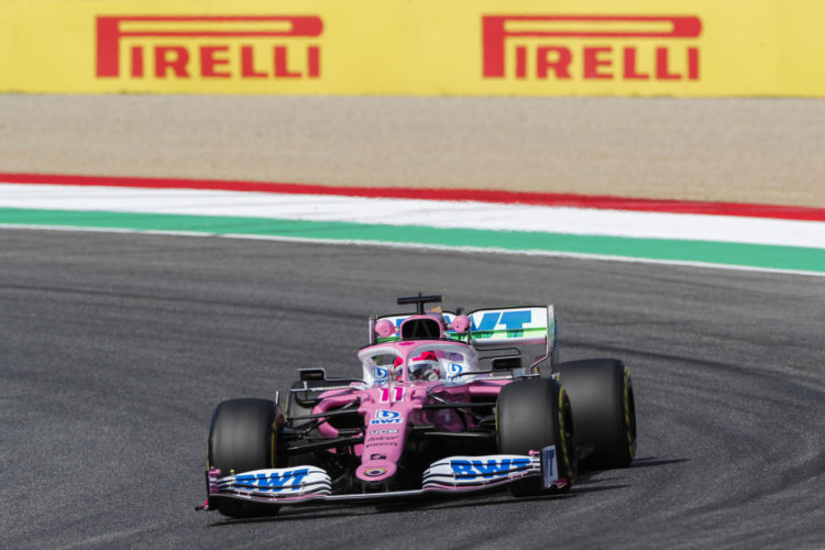 F1 Formula 1 Sergio Perez penalty Kimi Raikkonen Tuscan Grand Prix