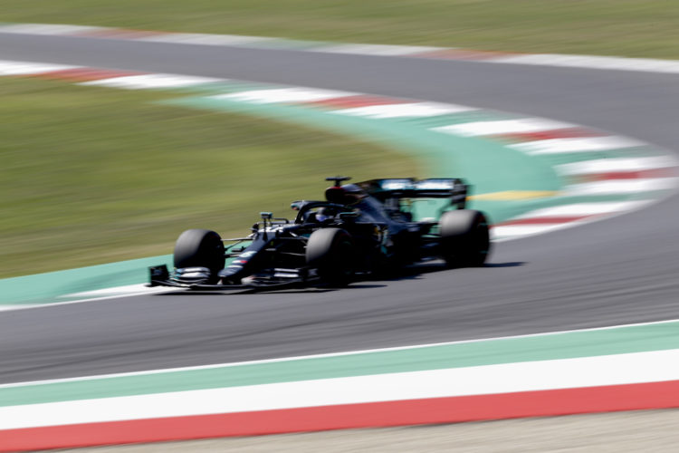 F1 Formula 1 Mercedes Lewis Hamilton pole position qualifying Tuscan Grand Prix