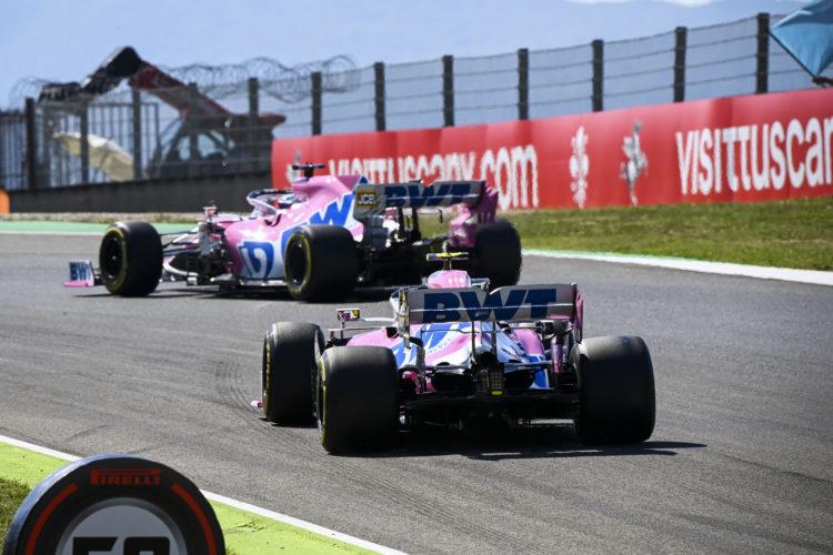 F1 Formula 1 Racing Point Lance Stroll Sergio Perez Tuscan Grand Prix