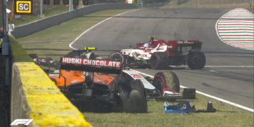 F1 Formula 1 Mugello Tuscan Grand Prix red flag crash