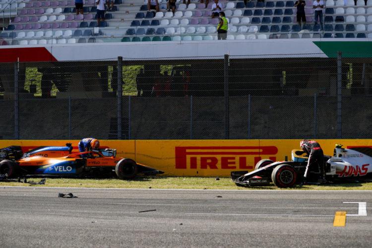 F1 Formula 1 Tuscan Grand Prix crash Sainz Latifi Kvyat Magnussen