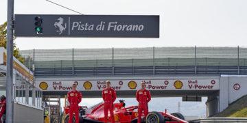 F1 Formula 1 Ferrari Shwartzman Schumacher Ilott Fiorano test