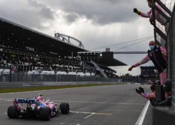 Safety Car podium F1 Formula 1 Racing Point Sergio Perez Eifel Grand Prix