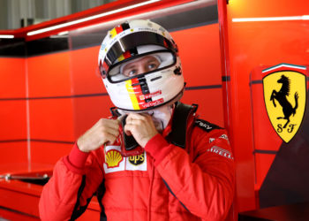 """Vettel hoping to finish his Ferrari time """"with dignity"""""""
