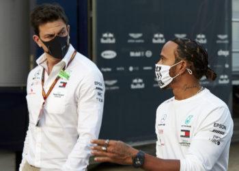 F1 Formula 1 Lewis Hamilton Mercedes Toto Wolff Imola Grand Prix Mercedes 2021