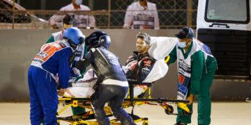 F1 Formula 1 Romain Grosjean Haas crash Bahrain Sakhir Grand Prix