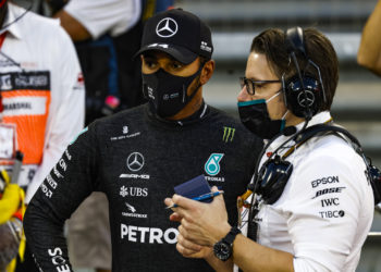 F1 Formula 1 Mercedes Toto Wolff Lewis Hamilton COVID Abu Dhabi Sakhir