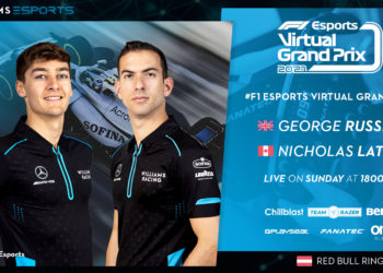 F1 Formula 1 Virtual GP George Russell Nicholas Latifi Alex Albon