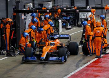Silverstone filming day F1 Formula 1 McLaren filming day MCL35M Daniel Ricciardo