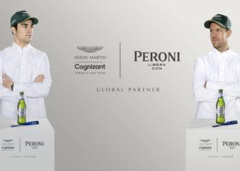 F1 Formula 1 Peroni sponsor Aston Martin