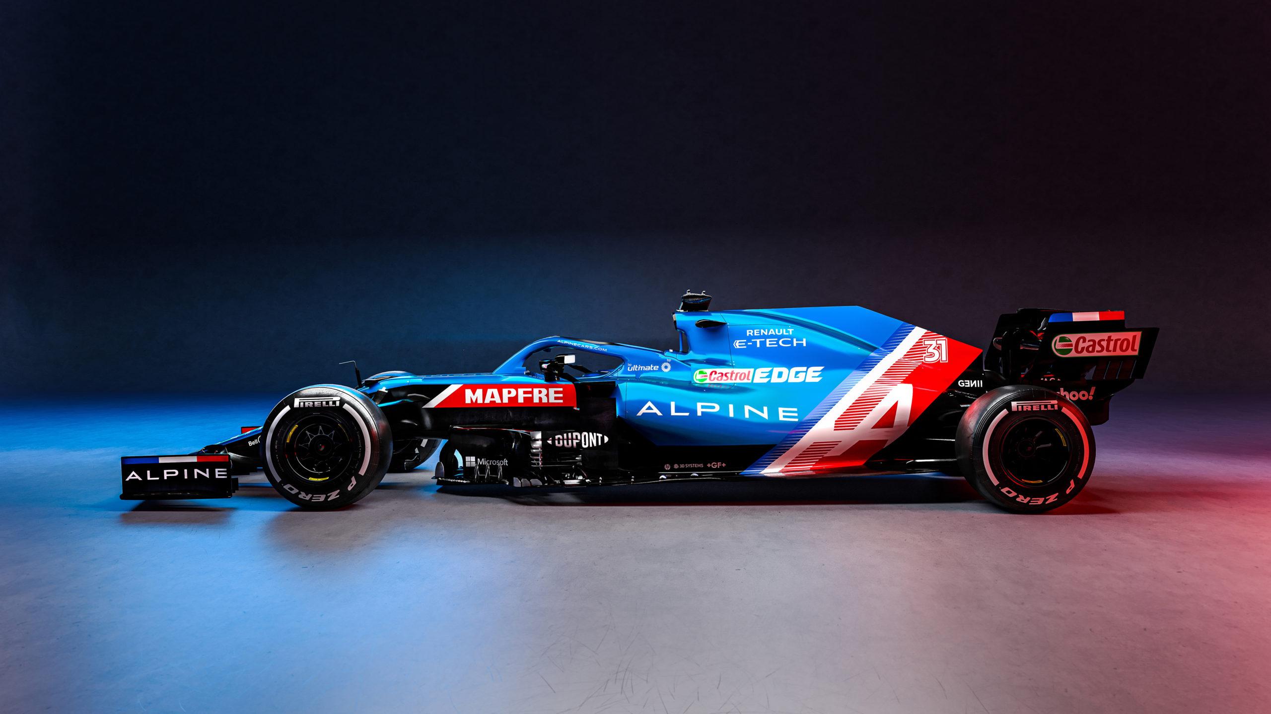 F1 Formula 1 Alpine A521 car launch