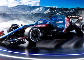 F1 Formula 1 Alpine Esteban Ocon Silverstone filming day