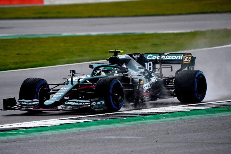 F1 Formula 1 Aston Martin Silverstone filming day Vettel Stroll