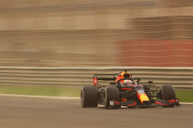 F1 Formula 1 Testing Max Verstappen red bull bahrain